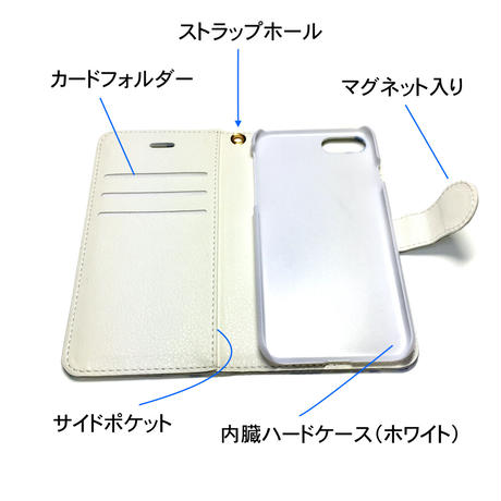 iPhone手帳型ケース【花】【全4色】iPhone12/12Pro/12ProMax/11/ 11Promax/XR/XSMax/8 plus/ 7 plus/6 plus/6S plus