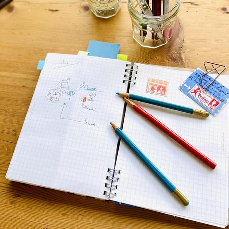【虹花】(フルールアンシエル)【全2色】リングノート(日付書き込み式マンスリー付)