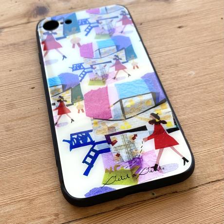 *2021夏の新柄*iPhone背面ガラスケース【ミュゼ】iPhone12/12Pro/11/XR/XSMax