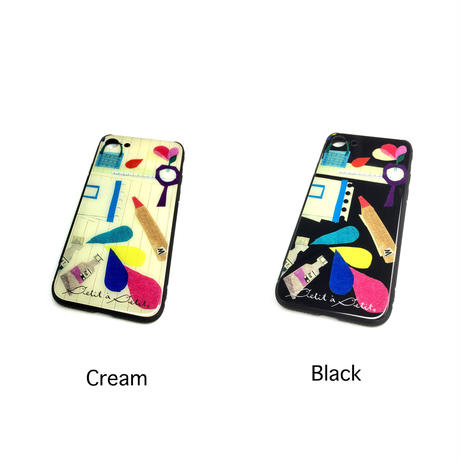 iPhone背面ガラスケース【文房具】(パプトリー)【全2色】iPhone12mini/ SE2(第二世代)/ 11 Pro/iphone XS/X/7/8