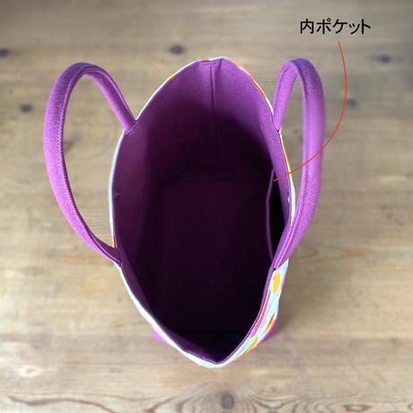 新発売*帆布コンビ[L]トートバッグ【虹花】(全2色・4パターン)