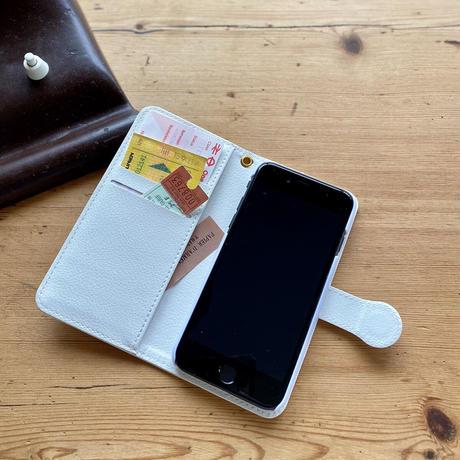 iPhone手帳型ケース【虹花】(フルールアンシエル)(全2色)iPhone12mini/ SE2(第二世代)/ 11 Pro/XS/X/8/7/6S/6/SE