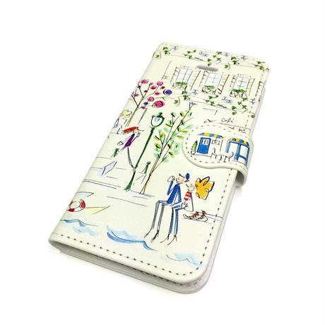 ★10日でお届け【イラスト:セーヌ】iphoneXS/X/8/7/6S/6/SE手帳型ケース