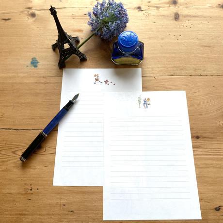 手書きの文字で伝えたい*レターセット【マルシェ】【セーヌ】(全2柄)