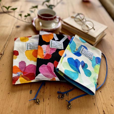 文庫ブックカバー【花】(レ・フルール)【全3色】