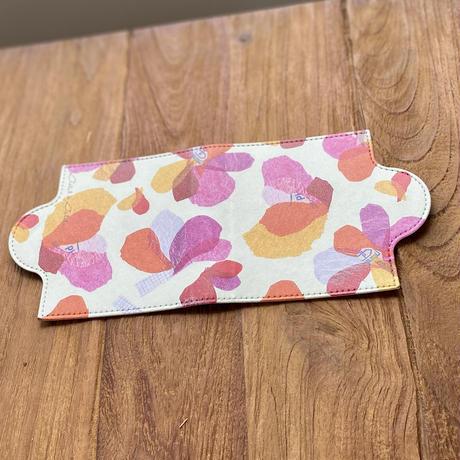 予約販売受付中【12月18日発送予定】マスクケース【山エメラルド・ブルー】【花ピンク】
