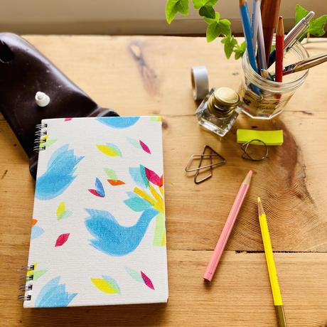 【鳥】(ロワゾ)【全2色】リングノート(日付書き込み式マンスリー付)