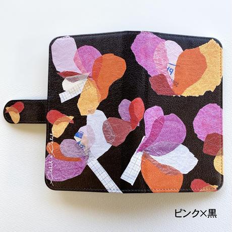Android手帳型ケース/Lサイズ【花】(レ・フルール)【全4色】