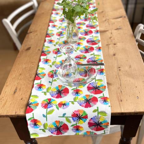 新商品*お部屋時間を楽しむ*テーブルに彩りを*テーブルランナー【山】【竹】【虹花】【セーヌ・マルシェ】(全6種)