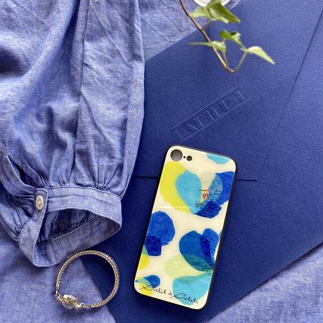 iPhone背面ガラスケース【花】(レ・フルール)【全4色】iPhone12/12Pro/11/XR/XSMax