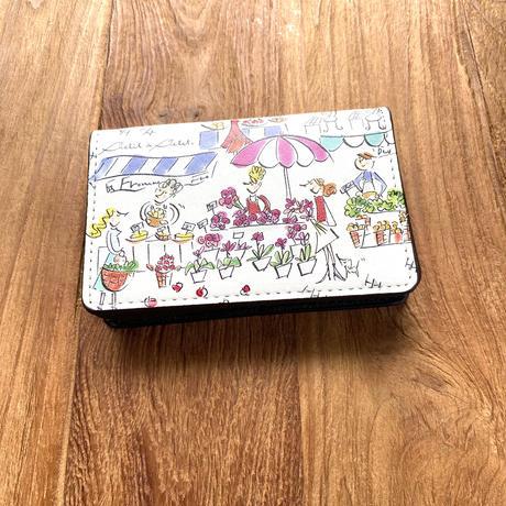 名刺ケース(カードケース)【マルシェ・セーヌ・虹花2色・壁2色】【全6柄】
