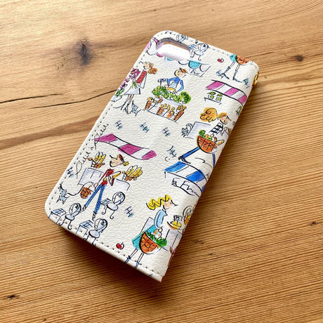 iPhone12mini/ SE2(第二世代)/ 11 Pro/XS/X/8/7/6S/6/SE手帳型ケース【マルシェ】
