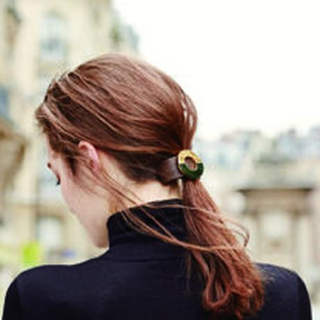 nina pony barrette green