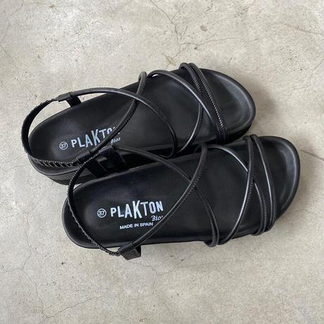 PLAKTON(プラクトン)コードストラップサンダル BLACK