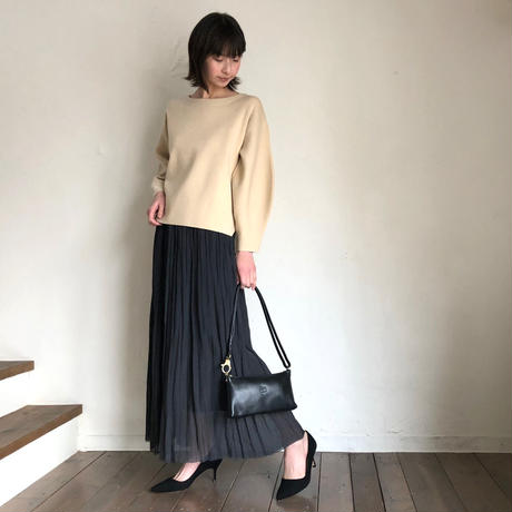 IL BISONTE(イルビゾンテ)5442302111 2wayポシェット 35.BLK
