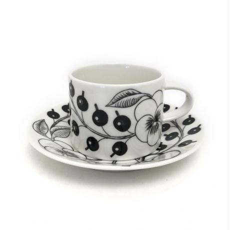 ARABIA(アラビア)BLACK PARATIISI(ブラックパラティッシ)コーヒーカップ&ソーサー