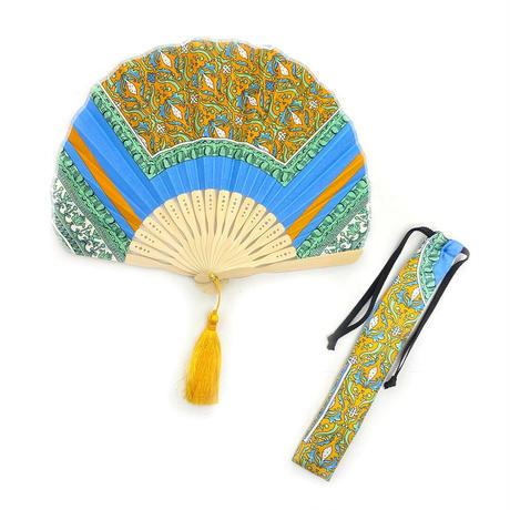 manipuri(マニプリ)0101675010 扇子 80.yellow