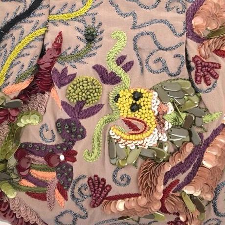 JAMIN PUECH(ジャマン ピュエッシュ)0005182 ビーズ刺繍バッグ 0052.PINK