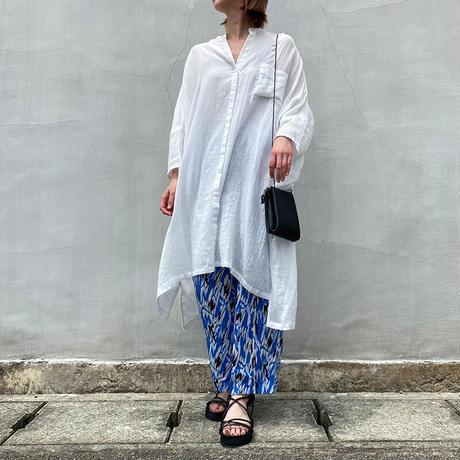 mizuiroind(ミズイロインド)ダブルガーゼワイドシャツ 11.off white