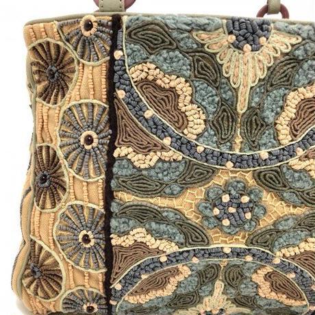 JAMIN PUECH(ジャマン ピュエッシュ)0109182 ビーズ刺繍バッグ 0008.BEG