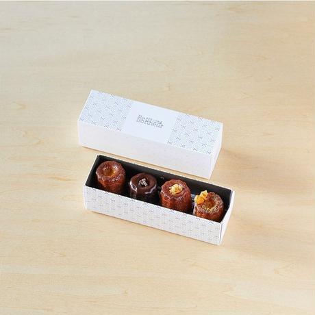 マンスリー(4種×2個)季節のカヌレ、毎月変わるお味を堪能してください^ ^