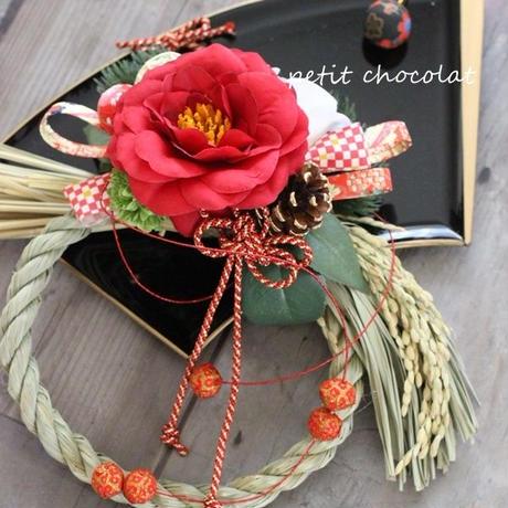 赤椿のしめ縄飾り
