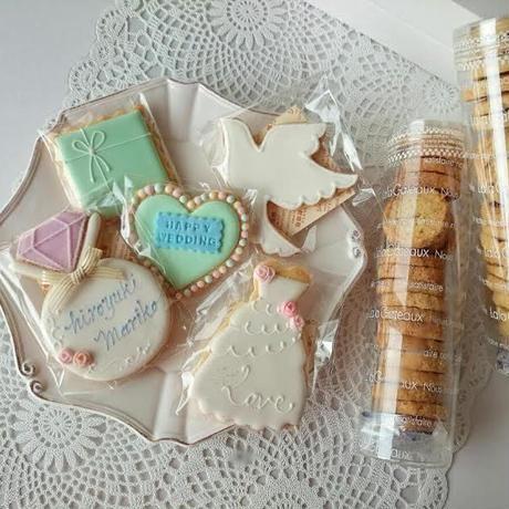 ウェディング アイシングクッキーと焼き菓子セット