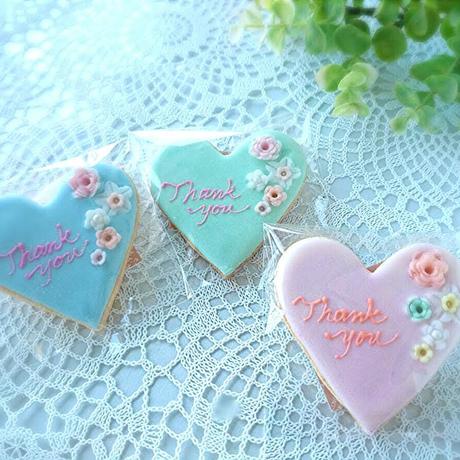 ハートのアイシングクッキー (花)プチギフト