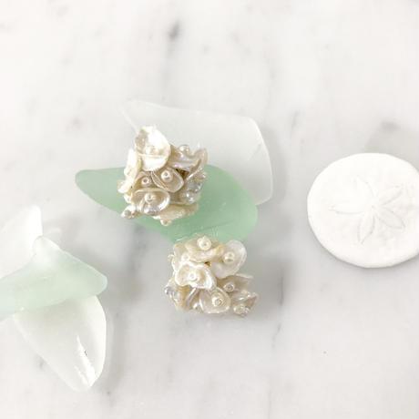 【淡水パール ver. 】Petite pearl bouquet ピアス(イヤリング)