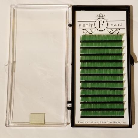 シングルカラーラッシュ《グリーン》Dカール0.15mm 9~15mm
