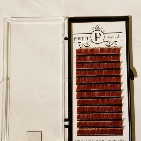 シングルカラーラッシュ《レッドブラウン》Cカール0.15mm 9~15mm