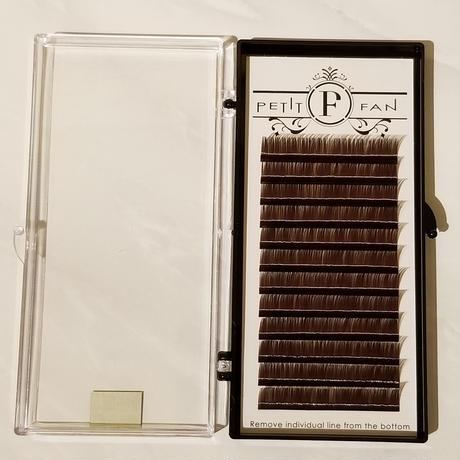 シングルカラーラッシュ《ブラウン》Cカール0.15mm 9~15mm
