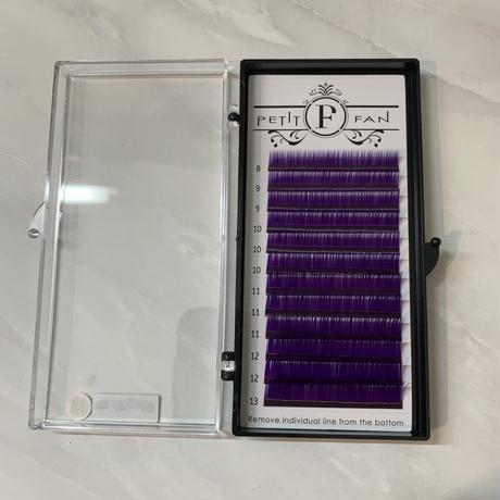 シングルカラーラッシュ〈パープル 〉 長さMIX 8mm〜13mm