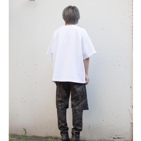 Ksenia Schnaider MEN/OVERSIZE T-SHIRT WITH REFLECTIVE LOGO PRINT /White