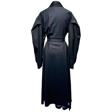 KIRPI/Dress Black with Green