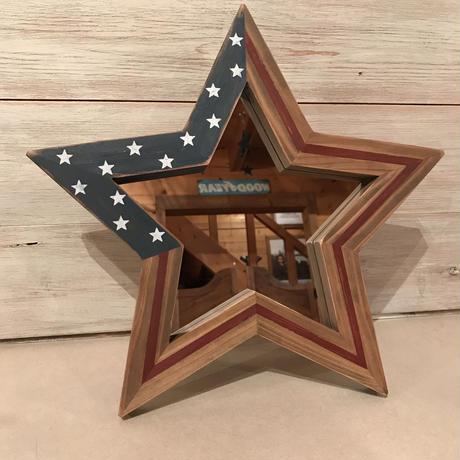 星型ミラー  スタンド  星条旗  2