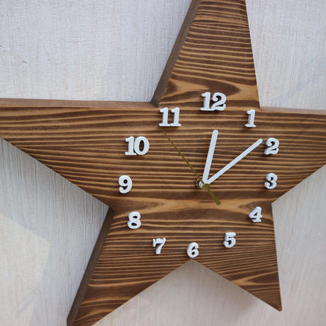 星時計40cm  Walnut