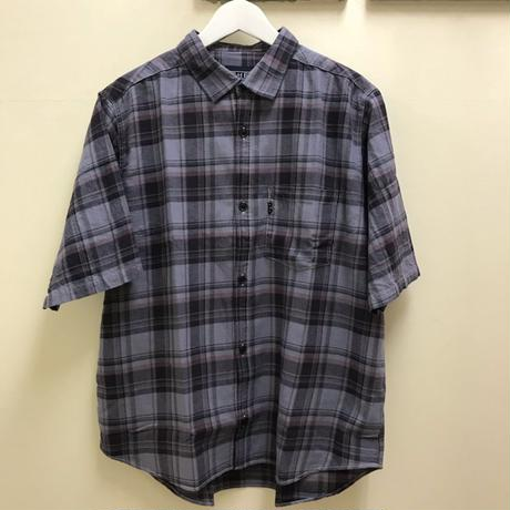 "「THE UNION」 THE FABRIC / ""ROLLUP CHECK SS SHIRTS"" - GRAY"