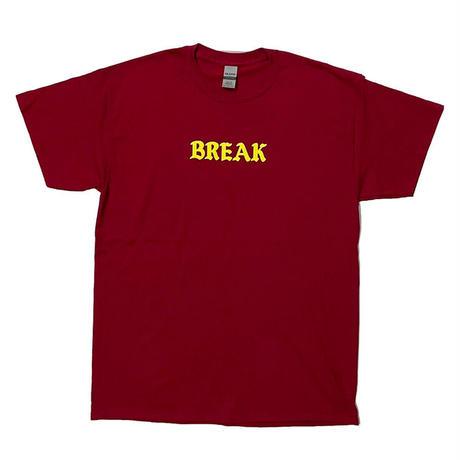 "「THE UNIIN」THE ""BREAK"" TEE  / color - RED"