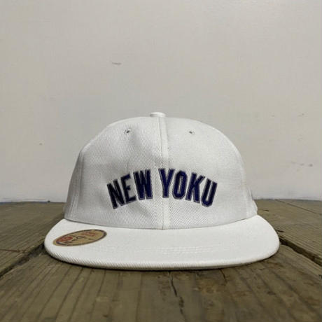 "「THE UNIIN」NEW YOKU  ""ON-RE"" LAEGUE CAP - ""JANKEES"" WHITE"
