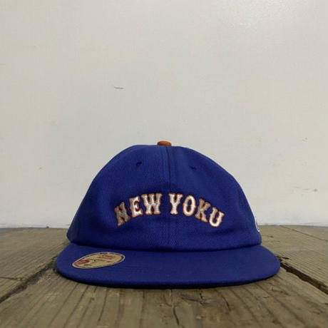 "「THE UNIIN」NEW YOKU  ""ON-RE"" LAEGUE CAP - ""WETS"" BLUE"