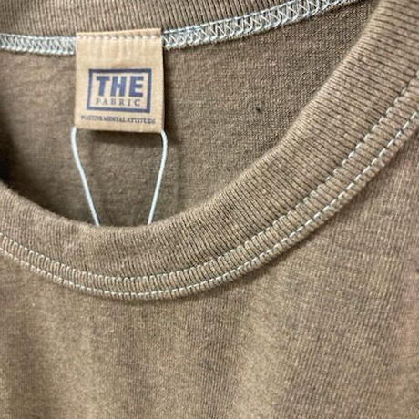 「THE UNION」THE FABRIC / PLAIN TEE / color - BROWN