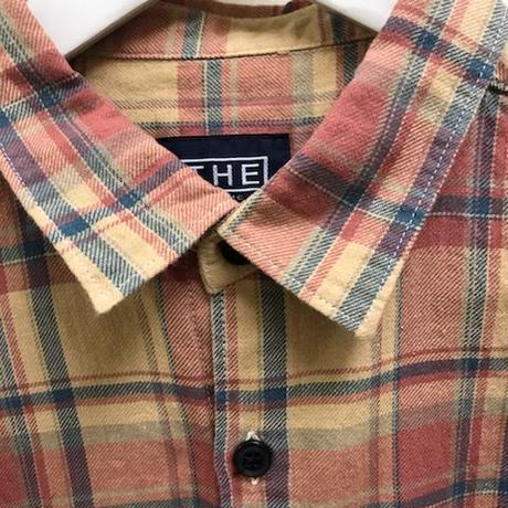 "「THE UNION」 THE FABRIC / ""ROLLUP CHECK SS SHIRTS"" - BEIGE"