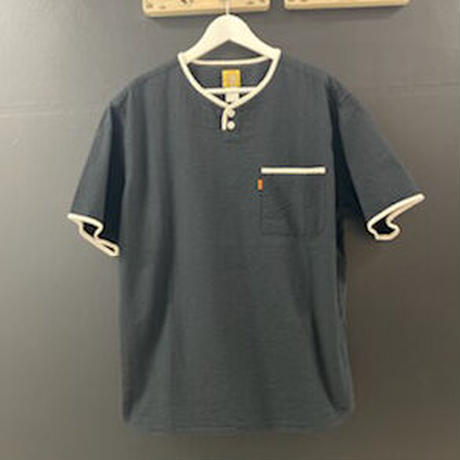 「THE UNION」THE BLUEST / HENLY NECK S/S SHIRTS / color - BLACK