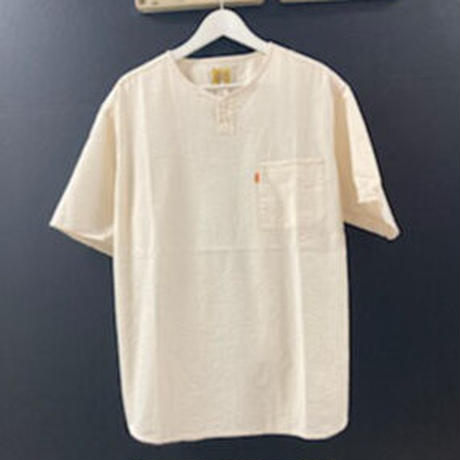 「THE UNION」THE BLUEST / HENLY NECK S/S SHIRTS / color - OFF WHITE