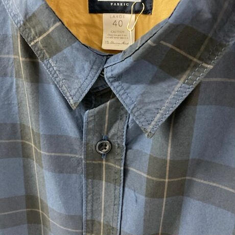 「THE UNION」THE FABRIC / CHECK STAR SHIRTS / color - NAVY