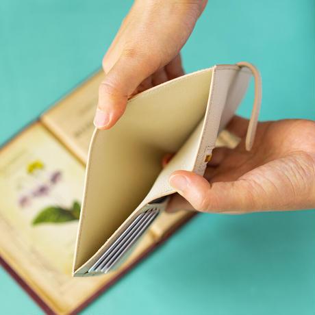ベルト付き2つ折り財布  ヴォー・エプソン/イヴォアール×クリーム