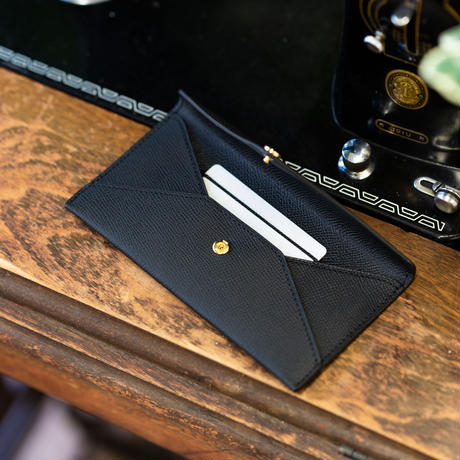 エンベロープ 型長札入れ(カードポケット付き) ヴォー・エプソン/ブラック