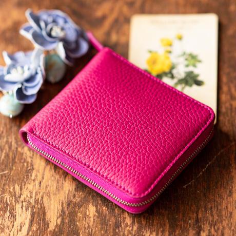 ラウンドファスナー二つ折り財布 ボックス小銭入れタイプ トリヨンクレマンス/ブラック×シェーブル/ブラック