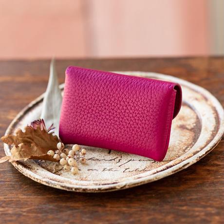やわらかなレザーフラップ mini財布 トリヨンクレマンス/ ローズパープル
